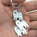 Ten kinds of popular pet key chain, the latest sales hotspot. The most worthy of the pets. Samoye dog key chain