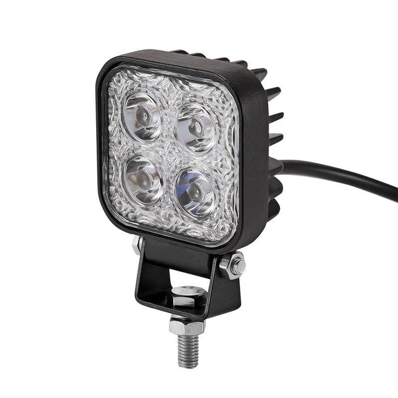 12W Car LED Offroad Work Light Bar for Jeep 4x4 4WD AWD Suv ATV Golf Cart 12v 24v Driving Lamp Motorcycle Fog Light