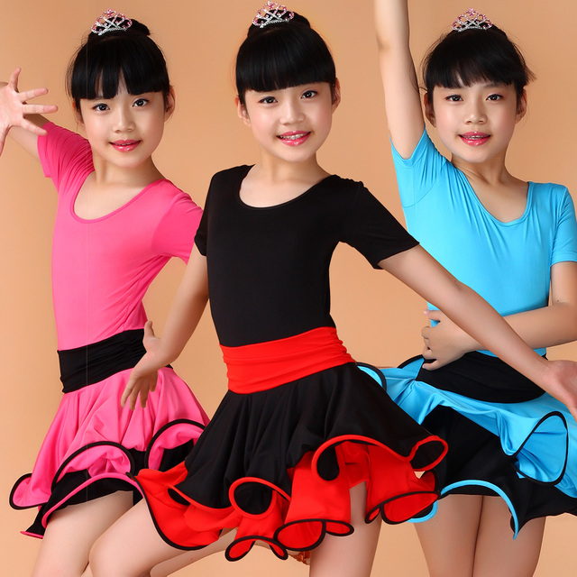 b85216b1680e2 Girl Kids Latin Dance Dress For Ballroom Dancing Kids Standard Latin  Competition Dresses Tango Samba Salsa ChaCha Rumba Costumes