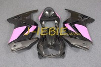 Black pink Injection Fairing Body Work Frame Kit for Kawasaki NINJA 250R EX250 EX 250 R 2008 2009 2010 2011 2012