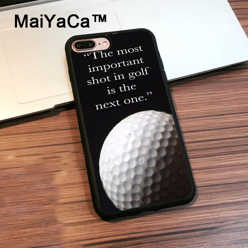 MaiYaCa Golf Ball Sport Quote Soft TPU Rubber Case For