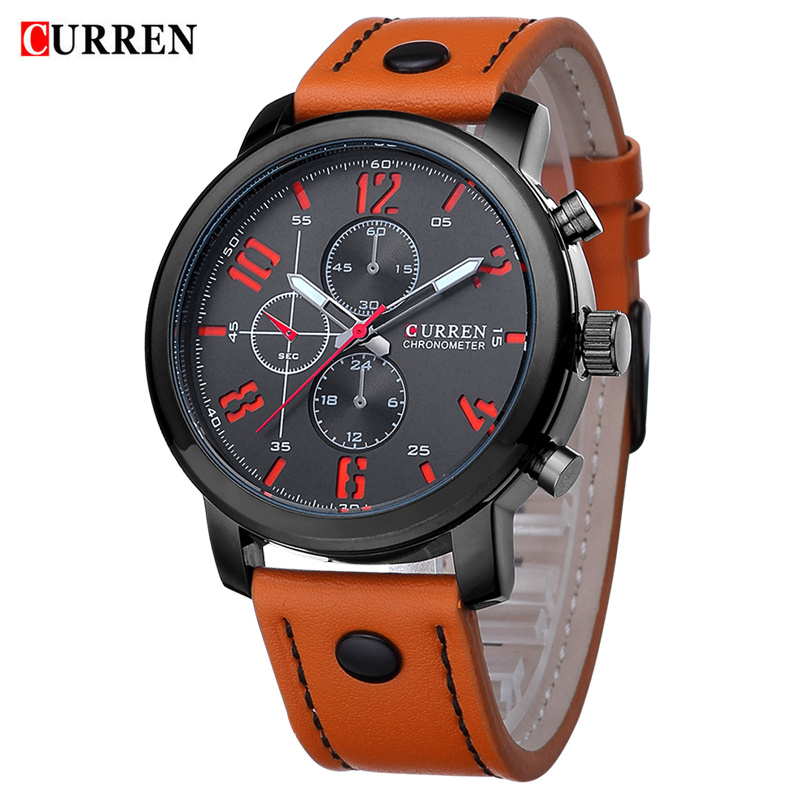 New CURREN Casual Men Watches Analog Military Sports Watch Quartz Luxury Male Wristwatches Relogio Masculino Montre Homme 8192