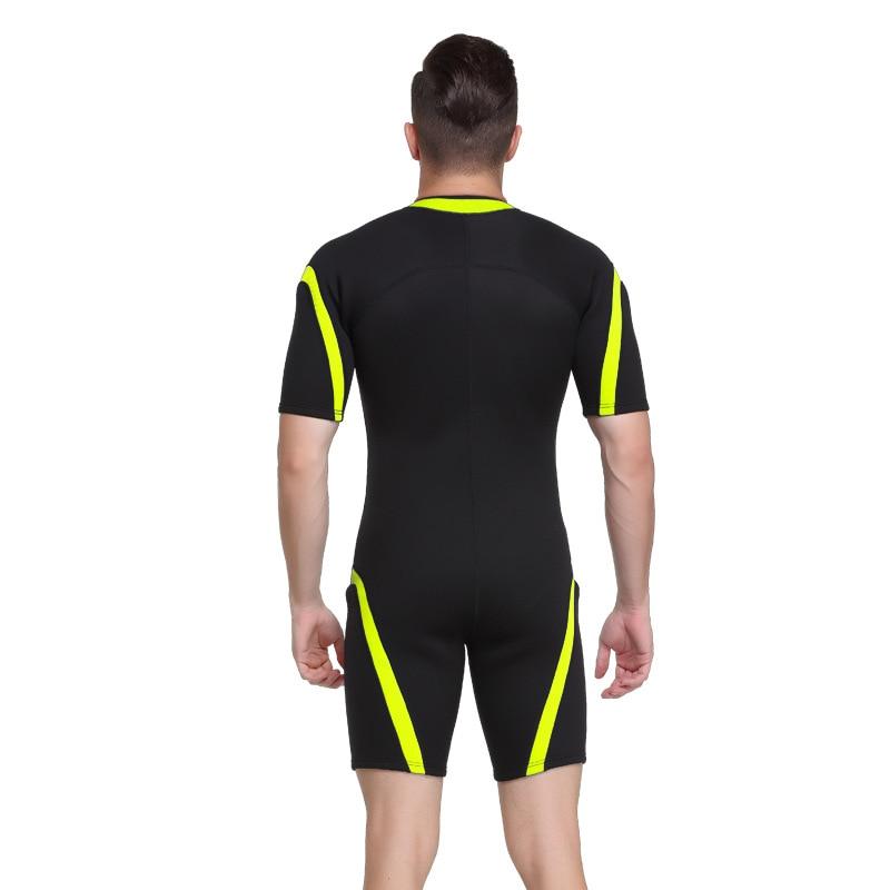 Sbart 2mm néoprène combinaisons hommes plongée sous-marine complet costumes à manches courtes homme plongée costume surf voile natation une pièce DBE - 5
