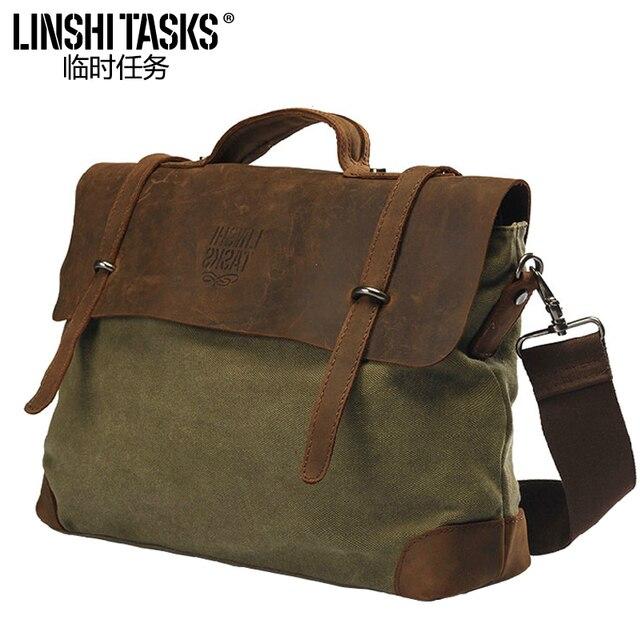 Aliexpress.com : Buy Male Bag Canvas Shoulder Messenger Laptop Men ...