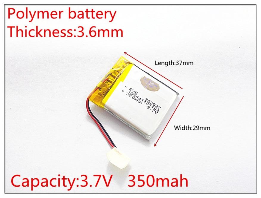 Li-ion Battery For Smart Watch,blue Tooth,gps,mp3,mp4,toy,speaker Yet Not Vulgar 362937 Plib;polymer Lithium Ion Sensible 362937 3.7v,350mah,