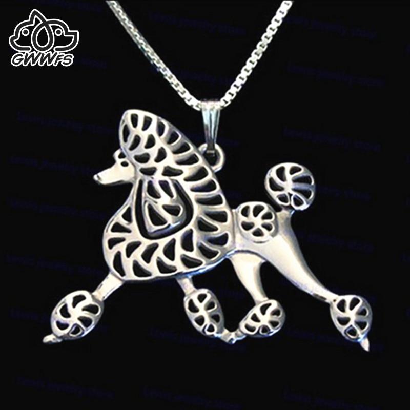 Kedves uszkár kutya medál nyakláncok női lányok barátai ezüst / arany színű hosszú lánc női nyaklánc medál ékszerek