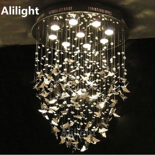 Aliexpress.com : Buy Modern K9 Crystal Hanging Lights Chrome ...
