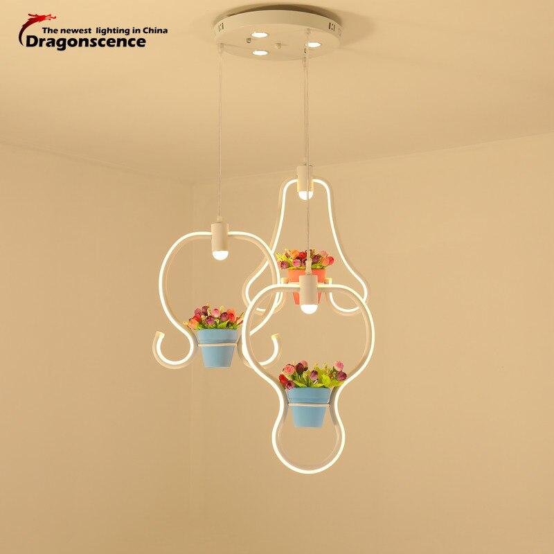 Dragonscence Modern led Pendant Light for Kitchen Dining Room  Coffee House Bedroom Suspension Hanging White Pendant Lamp
