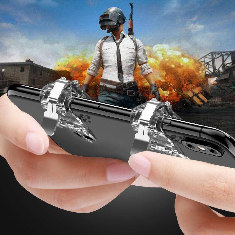 HobbyLane PUBG Game Shooter S4 Mobile Phone Gaming Trigger Fire Button Aim Key Handle L1R1 Controller For Iphone Xiaomi D25