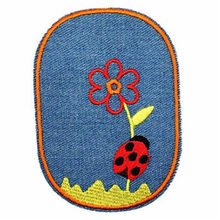 T shirt women Embroidered jeans patch Ladybug Flower Stranger things Applique iron on patches for clothing deal with it Stickers(China)