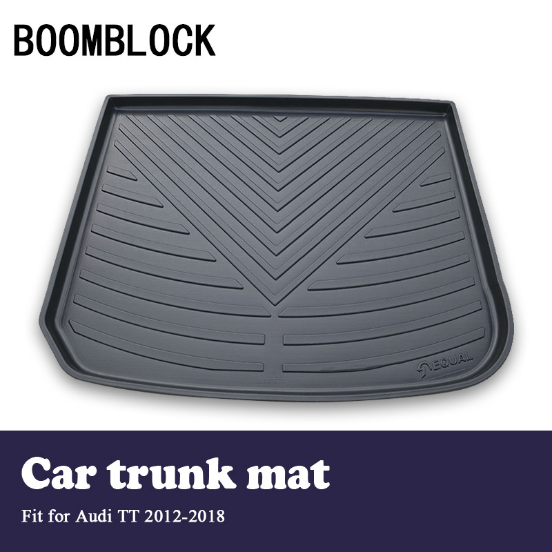 BOOMBLOCK Car Special Trunk Floor Foot Mat Pad Non-slip Dustproof Interior Accessories For Audi TT 2018 2017-2012BOOMBLOCK Car Special Trunk Floor Foot Mat Pad Non-slip Dustproof Interior Accessories For Audi TT 2018 2017-2012