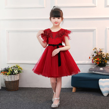 HUNTWESTER Gorgeous Noble Sweet Communion Flower Girl Dress