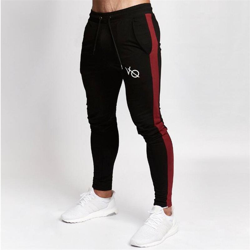 New Brand Sweatpants Gold Medal Fitness Casual Elastic Embroidered Pants Stretch Cotton Men's Pants Jogger Bodybuilding