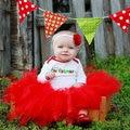 Красный пачки пушистый тюль дети дети девушки юбки малышей детские костюм мини бальное платье балет танец свадьба pettiskirt дети