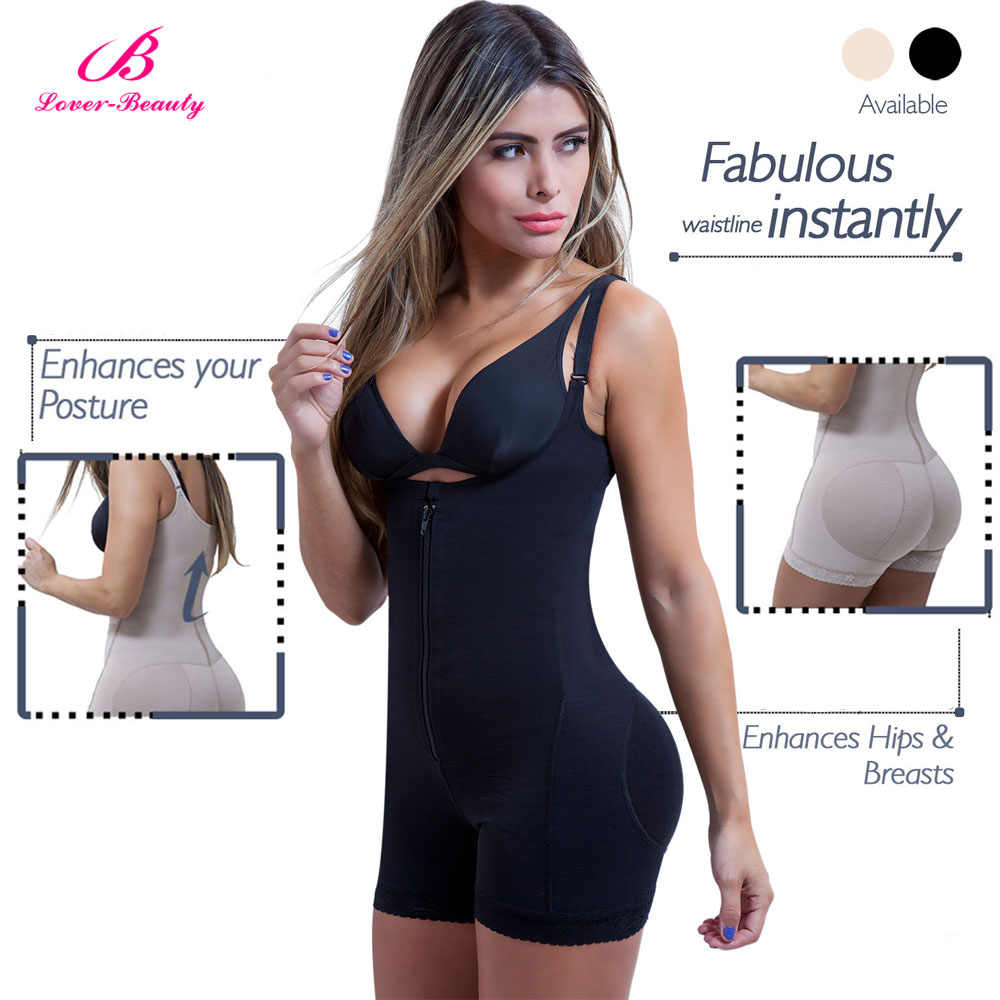 Lover beauty Fajas Reductora застежка-молния и зажим латексный Талии Тренажер твердый контроль тела корректирующий комплект для прикладок