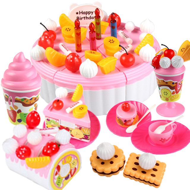 Free Shipping Children Play House Toys Birthday Cake Birthday Gift
