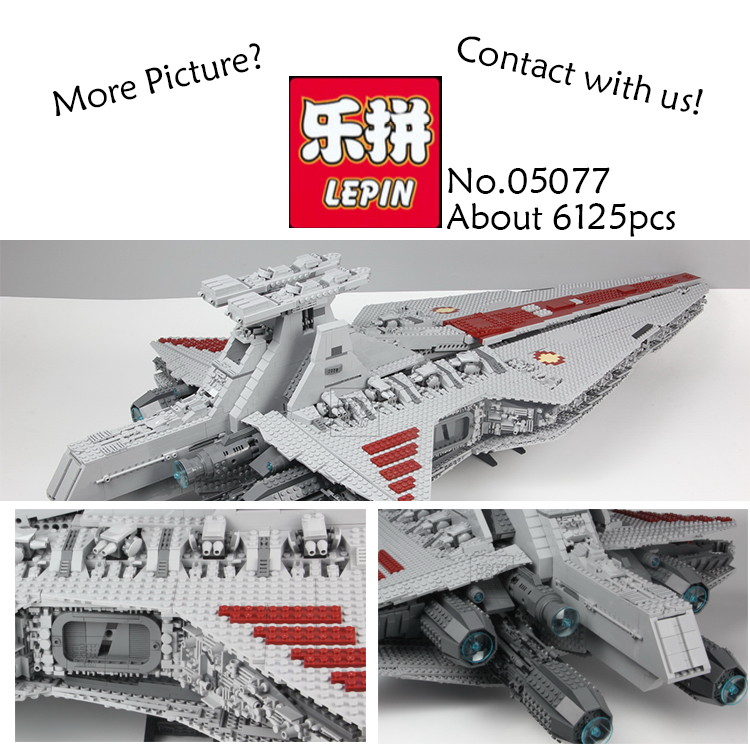 Lepin Star Wars 05077 6125Pcs The UCS Rupblic Star Destroyer Cruiser ST04 figures Building Blocks Bricks fun Toys for children lepin 6125 stucke star classic modell wars die ucs st04 republic cruiser educational building blocks bricks spielzeug mode
