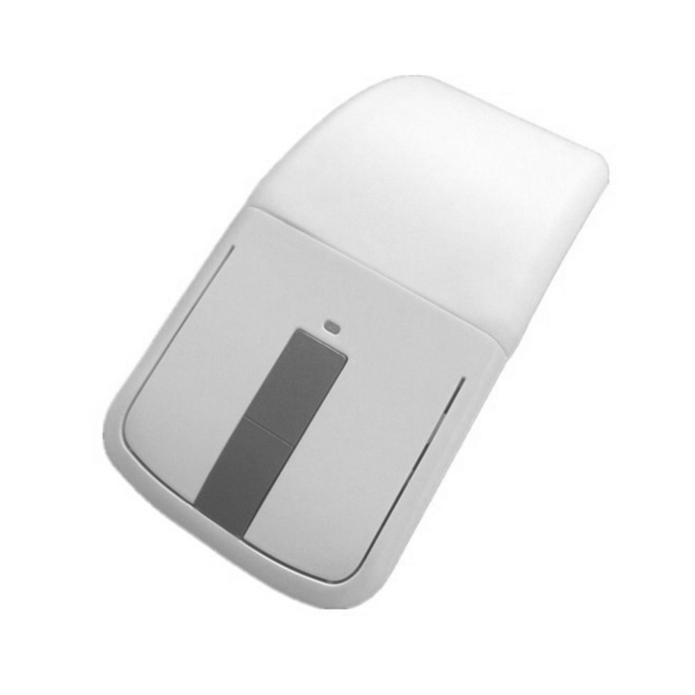 2 4GHz Bluetooth Optical Wireless Mouse Portable Foldable Arc Touch Mouse Ultra thin for PC font