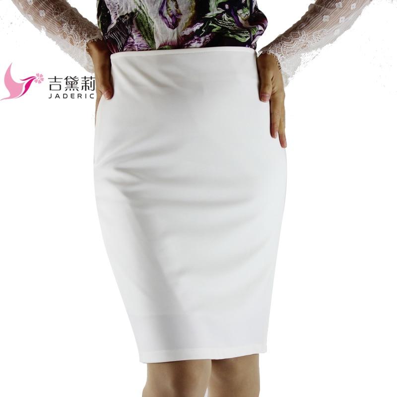 Podzimní 4XL Plus Slim Sexy Formální Kancelářská Sukně Faldas Ženy Vysoký Pas Černá Bílá Krok Tužka Sukně Saias Sukně 2018
