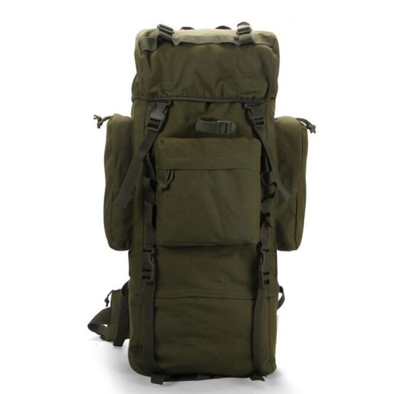 Hot sale!70 L Metal Bracket Backpack Outdoor Sports Bag Military Tactical Bags Hiking Camping Waterproof Wear-resisting Bag 600D