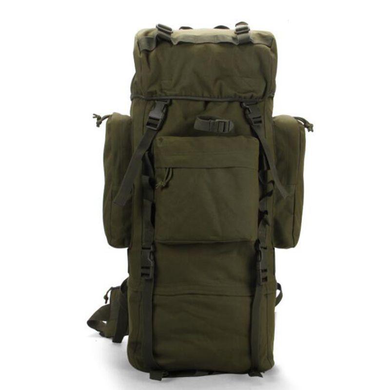Offre spéciale! sac à dos de support en métal 70 L sac de sport de plein air sacs tactiques militaires randonnée Camping sac imperméable résistant à l'usure 600D