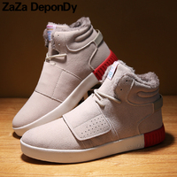 2018 New Style Winter Men Boots Warm Plush High Top Sneakers Brand Outdoor Sport Shoes Men