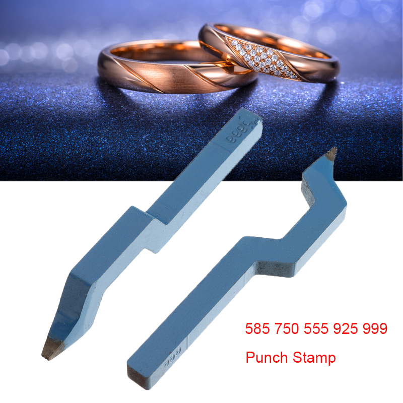585 750 555 925 999 Metal Steel Punch Mold Mark Stamp Tool Gold Sterling Silver Ring Bracelet Earring Buckle Jewelry Making