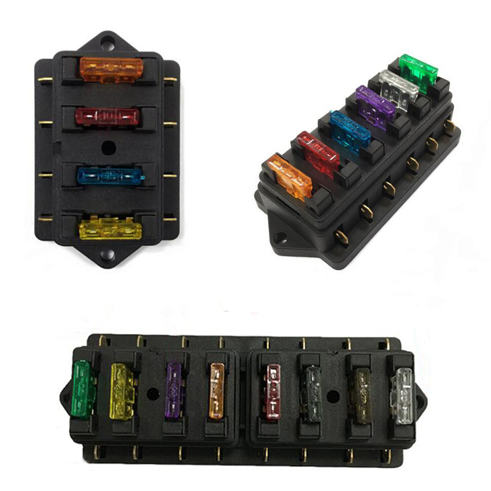1pc 4 6 8 way waterproof car circuit flat plate fuse box holder elegant car accessory for vehicle truck in fuses from automobiles motorcycles on  [ 1000 x 1000 Pixel ]