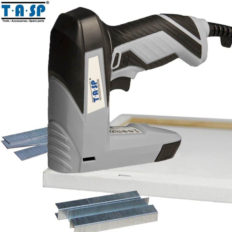 TASP 220 v 2 in 1 Elektrische Nagler und Hefter für Möbel Tacker für Rahmen mit Heftklammern & Nägel zimmerei Holz Werkzeuge