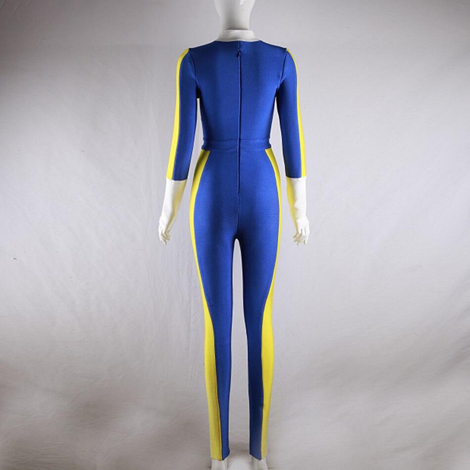 Mode Style verschluss Langarm Rei Street Sport Strumpfhosen Damen Overall Patchwork Sexy Casual 2018 Blauer ywNm0P8nvO