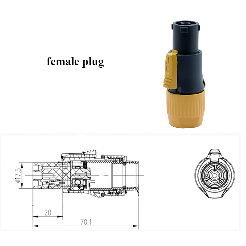 Waterproof PowerCON Cable Connector female
