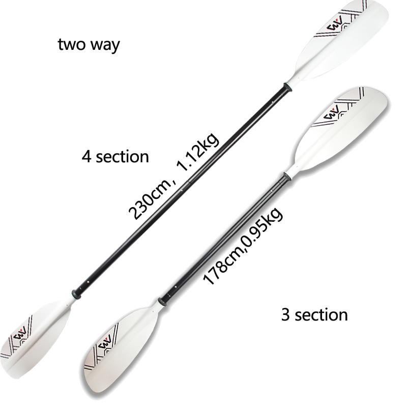 d7a63fd99 Dupla lâmina da pá do caiaque remo de alumínio 230 cm para AQUA MARINA remo  de