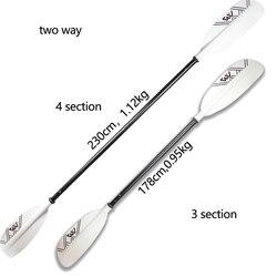Doppel klinge kajak paddel aluminium ruder 230 cm für kanu aufblasbare beiboot floß weiß farbe paddle AQUA MARINA marke 4 abschnitt