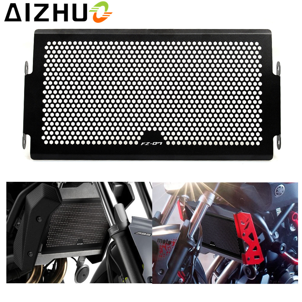 motorcycle Radiator Grille Cover Stainless Steel Radiator Guard Protector for Yamaha  MT-07 mt 07 fz07 FZ-07 2014-2016 XSR700 new motorcycle stainless steel radiator grille guard protection for yamaha tmax530 2012 2016
