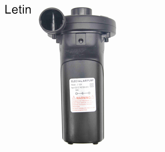 Letin 240V/12V Rechargeable battery Electric inflatable air Pump air compressor inflate for Outdoor Kayak boat air bed fishing