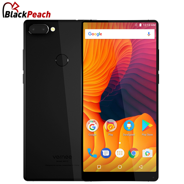 Vernee Mix 2 Mobile Phone 6.0 inch 18:9 MTK6757 Octa Core Android 7.0 4GB 64GB 13MP 4200mAh 4G Dual Camera Fingerprint Cellphone