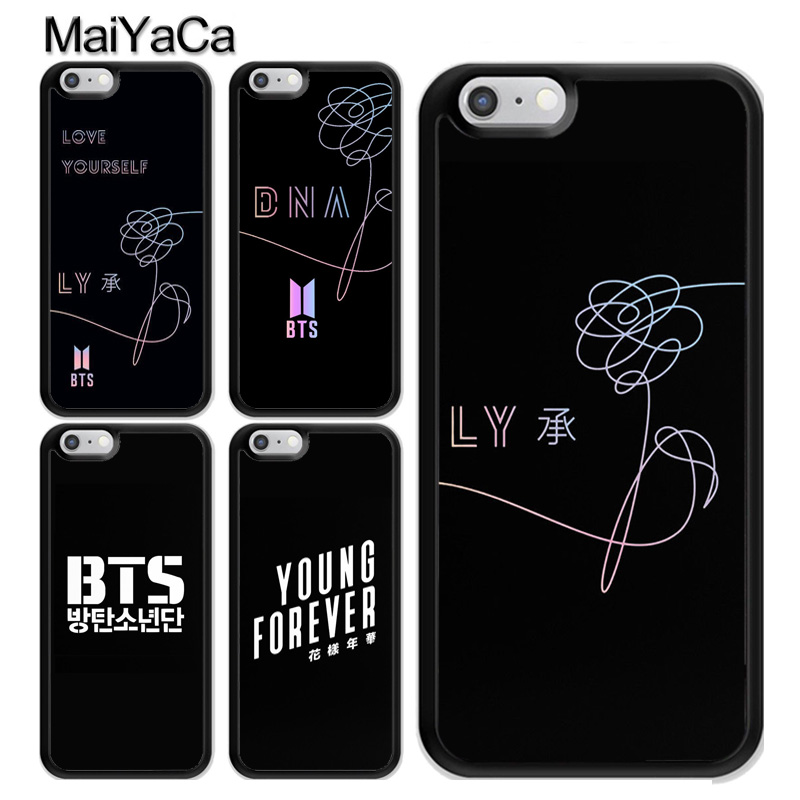 MaiYaCa BTS Bangtan Boys Love Yourself Phone Case For iPhone XS MAX X XR 8 7 6 6
