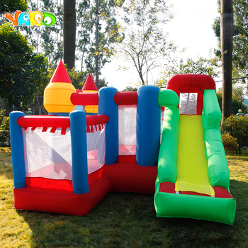 YARD Inflatable Jumping Castle with Slides Kids Free PE Balls Inflatable Trampoline Bouncers Christmas Gift Ship Door To Door customized small jumping castle mini inflatable trampoline for kids game