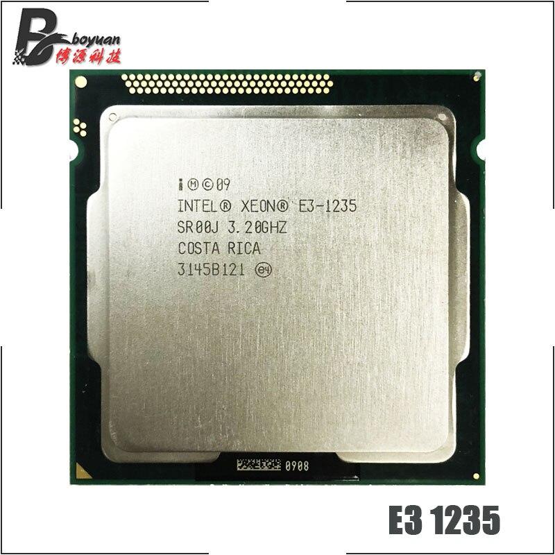 Intel Xeon E3 1235 E3 1235 3 2 GHz Quad Core CPU Processor 8M 95W LGA