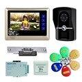 """7""""door intercom Video Door Phone Doorbell interphone video interfone para casa Hands Free Monitor Intercom Doorbell freeshipping"""