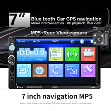 2 din 7 inch HD Car Radio GPS Navigation Player Camera Bluetooth AUX MP3 MP5 Stereo FM Audio USB Auto Electronic 2din Autoradio 7 inch hd bluetooth auto car stereo radio in dash touchscreen 2 din usb aux fm mp5 player night vision camera remote control