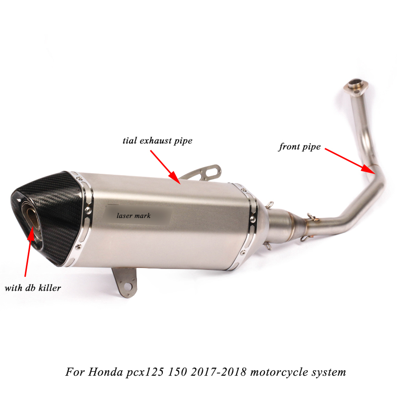 2017 2018 2019 Silp on For Honda PCX 125 150 Motorcycle Modification non destructive Link Exhaust