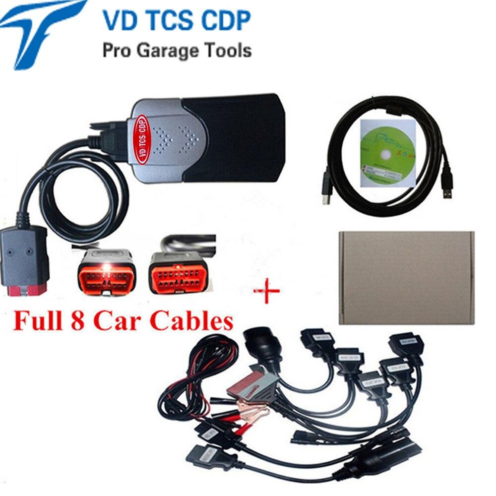 Цена за 2015.3 R3 КОМПАКТ нового vci с keygen в CD без bluetooth с 8 полный набор автомобилей кабели в. д. TCS cdp pro plus
