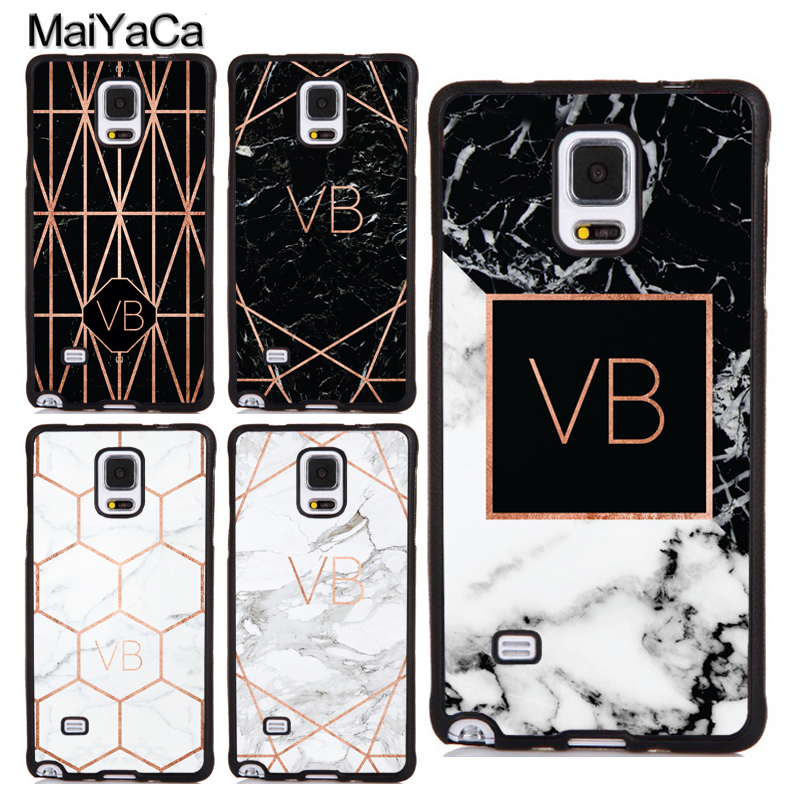 sneakers for cheap d230e 49364 US $4.11 5% OFF|MaiYaCa PERSONALISED ROSE GOLD GEOMETRIC MARBLE Case For  Samsung Galaxy Note 4 5 8 S5 S6 S7 Edge S8 S9 Plus Cover TPU Phone Case-in  ...
