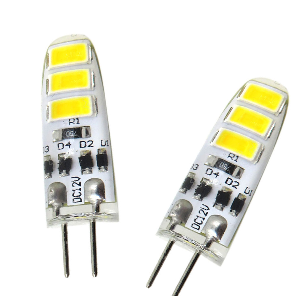 10PCS/1LOT G4 5730 SMD 6 LED Capsule Led Bulb 3W Replace Halogen Light Lamp Halogen Replacement Bulbs AC/DC 12V