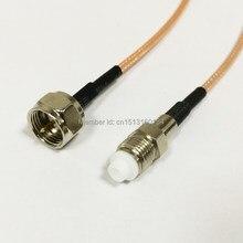 Câble de Connexion Modem F mâle vers connecteur femelle FME RG316, 15CM 6 pouces RF Pigtail
