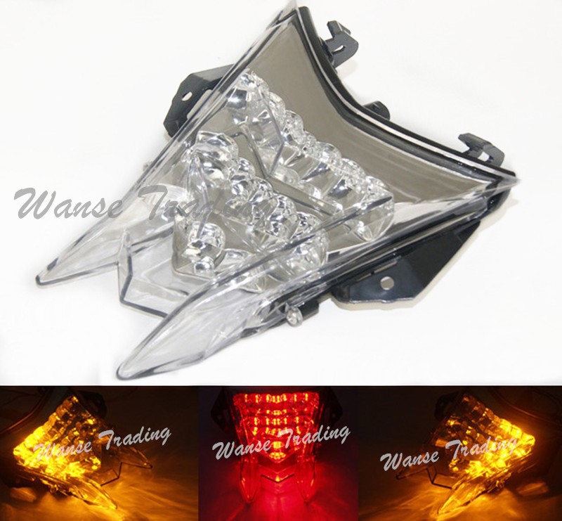 Tail Brake Turn Signals Integrated Led Light Lamp Clear For 2009 2010 2011 2012 2013 2014 2015 BMW S1000RR Premium K46 HP4 K42 aftermarket free shipping motorcycle parts led tail brake light turn signals for 2008 2012 suzuki hayabusa gsx1300r clear