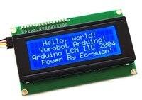 IIC/I2C 2004 modulo LCD schermo blu fornisce un file di libreria