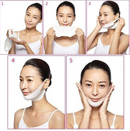 Ear hanging V face tension firming mask paper Slimming masseter eliminate edema double chin fat (include paper only) M922Ear hanging V face tension firming mask paper Slimming masseter eliminate edema double chin fat (include paper only) M922