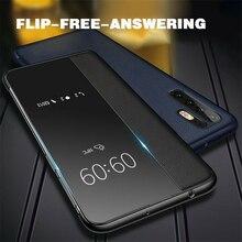 Smart View Flip Leather Case For Huawei P30 P20 Pro Lite P10 Plus Nova 3i 3 Mate 20 10 9 Honor 8X Auto Sleep Awake
